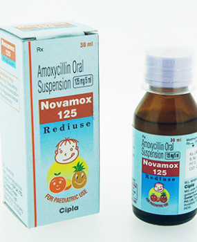 Novamox 125mg dry Syp