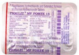 PIOGLIT MF FORTE 15+850MG