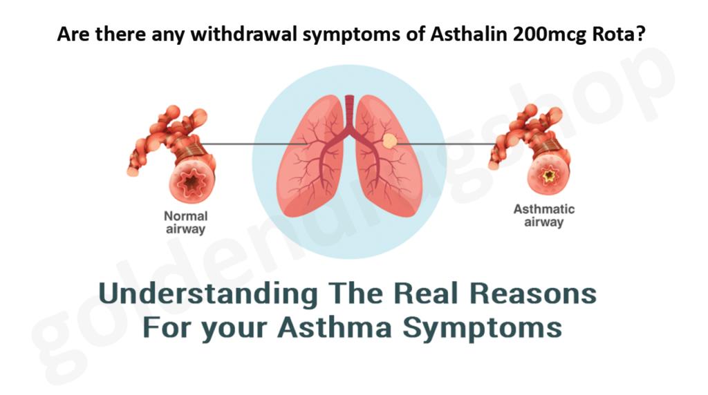 any withdrawal symptoms of Asthalin 200mcg Rota